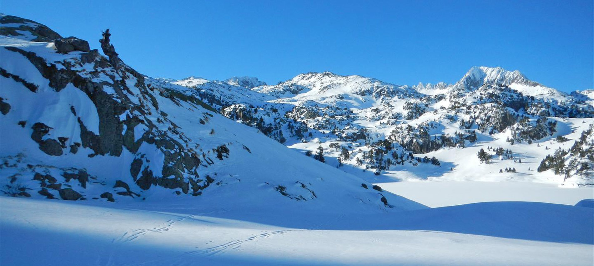 grand lac cirque colomers hiver neige