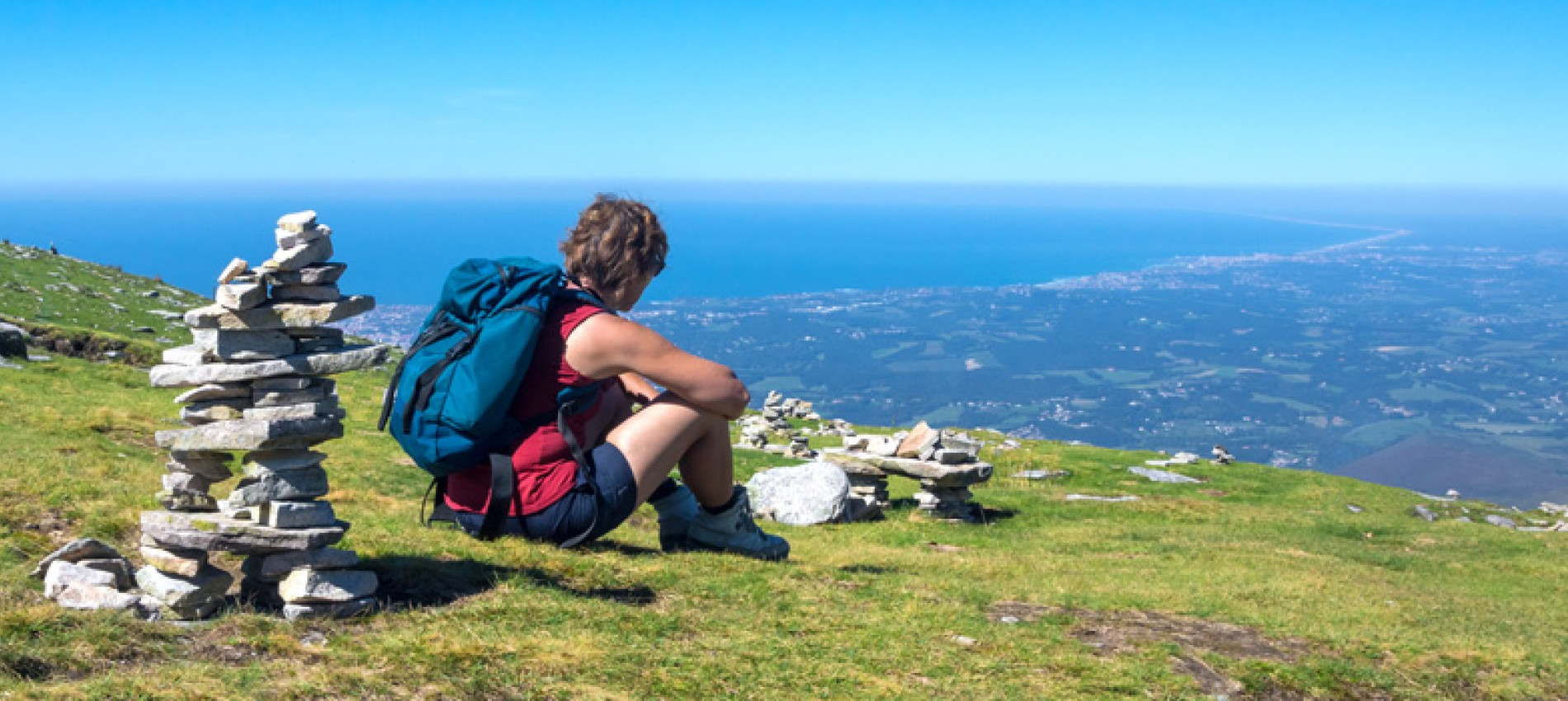 Pays Basque vu de la Rhune