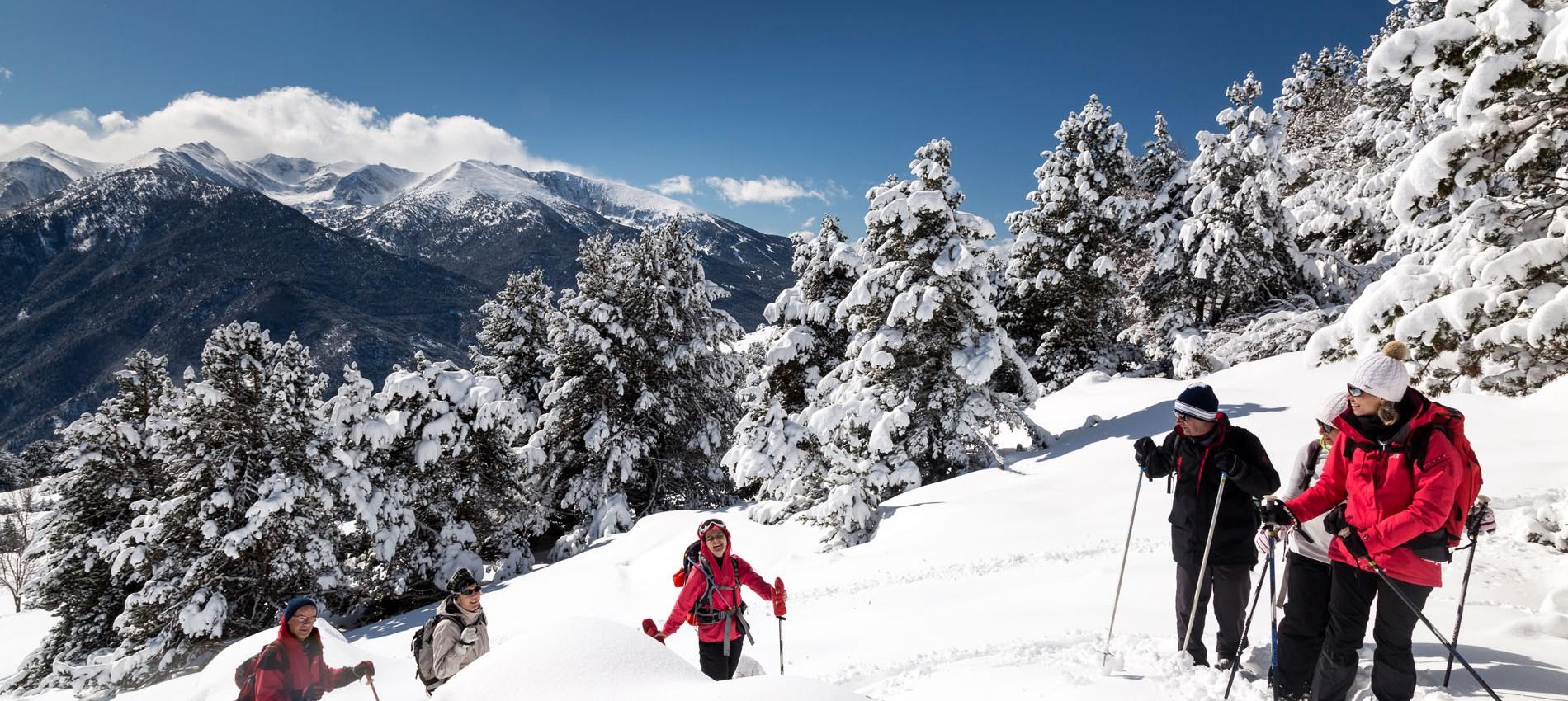 Randonnées raquettes neige Pyrénées