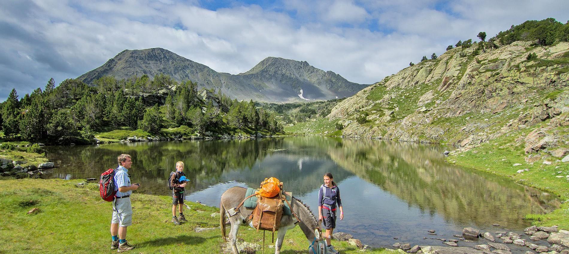 randonnée avec ânes camporells