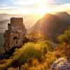 Château de Quéribus et coucher de soleil