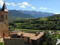 Vue depuis le village de Prullans en Espagne
